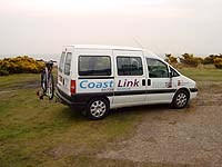 CoastLink demand-responsive bus at Dunwich.  Picture: Chris Wood.