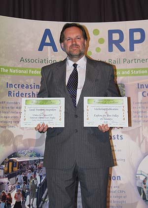 Chris Wood at the 2008 Community Rail Awards.  Picture: Ian Dinmore.